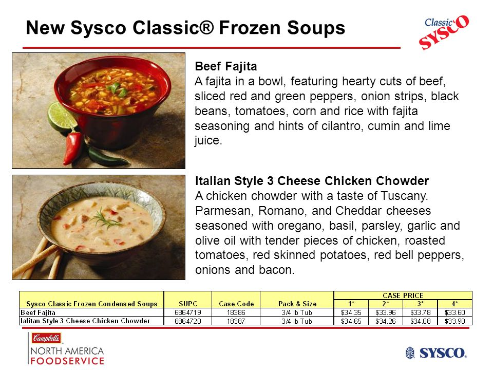 New Sysco Classic® Frozen Soups