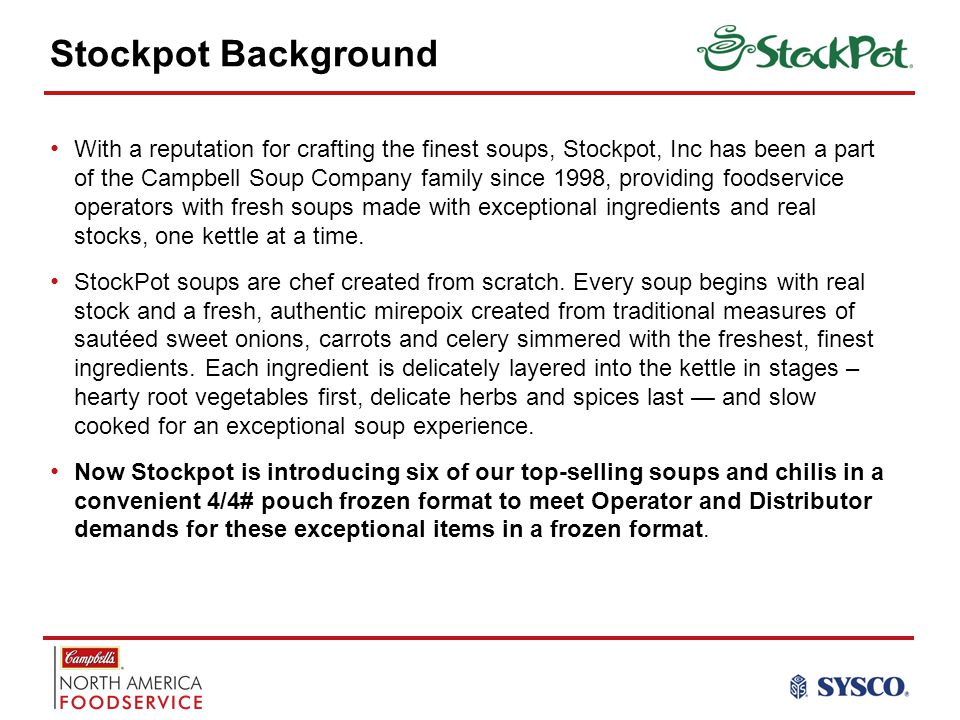 Stockpot Background