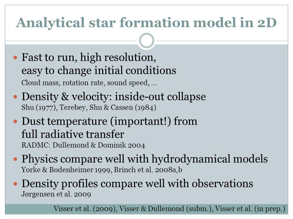 Analytical star formation model in 2D