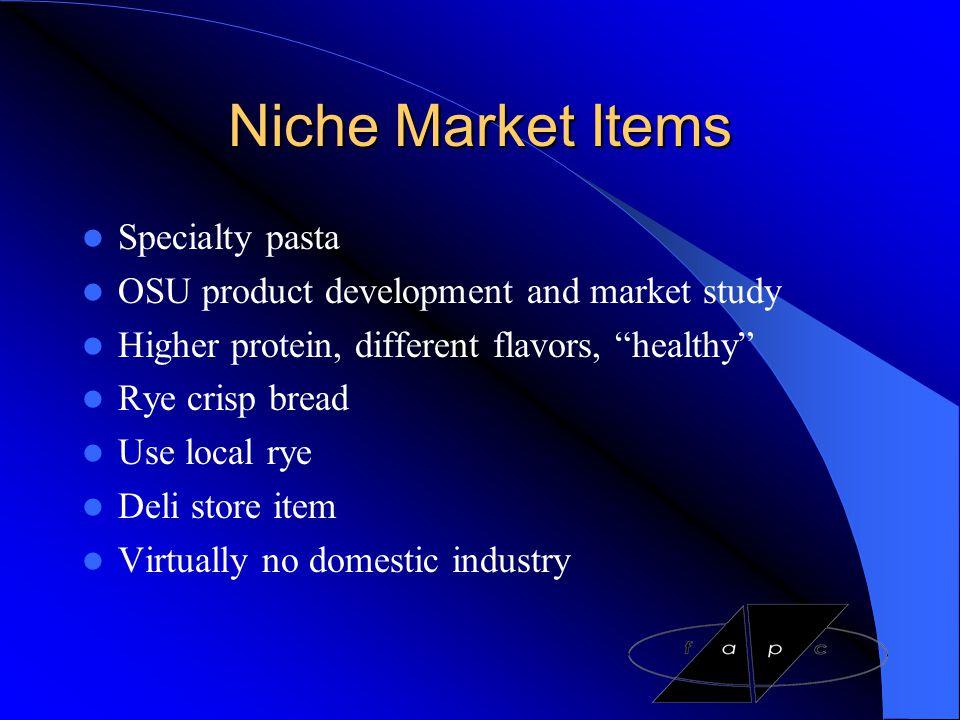 Niche Market Items Specialty pasta