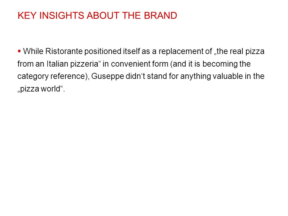 KEY INSIGHTS ABOUT THE BRAND