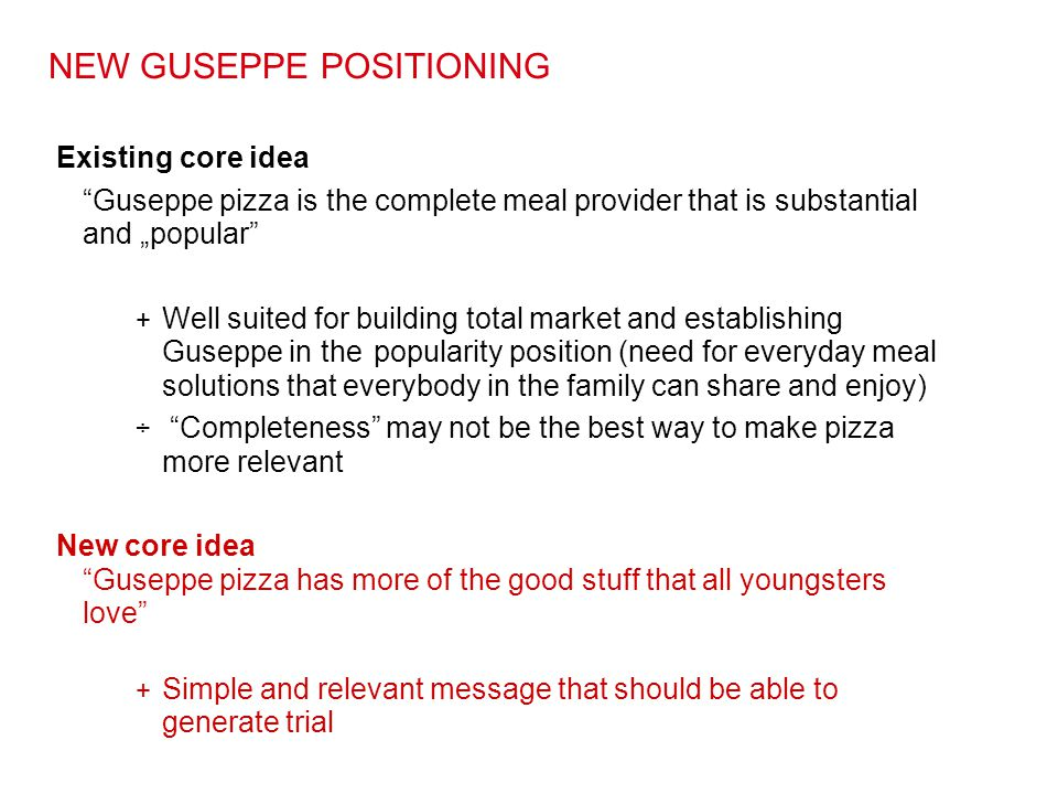 NEW GUSEPPE POSITIONING