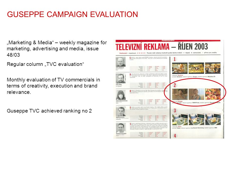 GUSEPPE CAMPAIGN EVALUATION