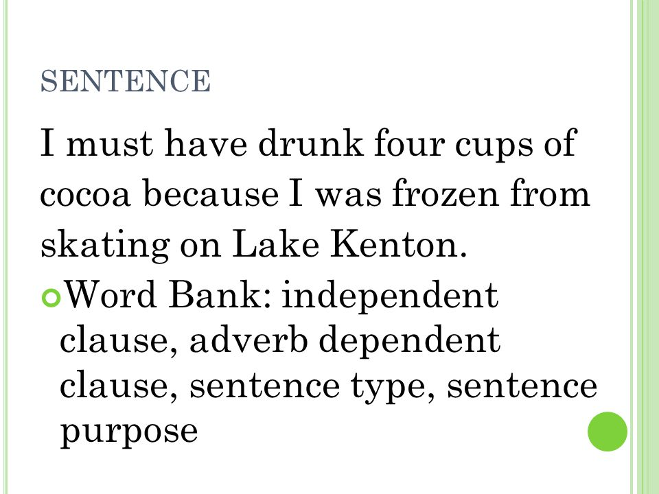I must have drunk four cups of cocoa because I was frozen from