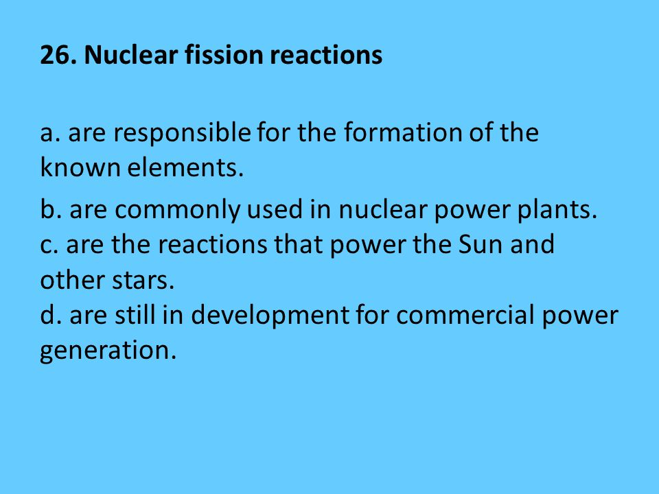 26. Nuclear fission reactions a