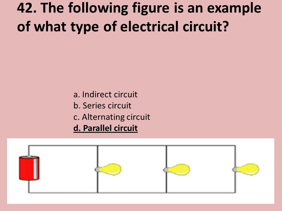 42. The following figure is an example of what type of electrical circuit