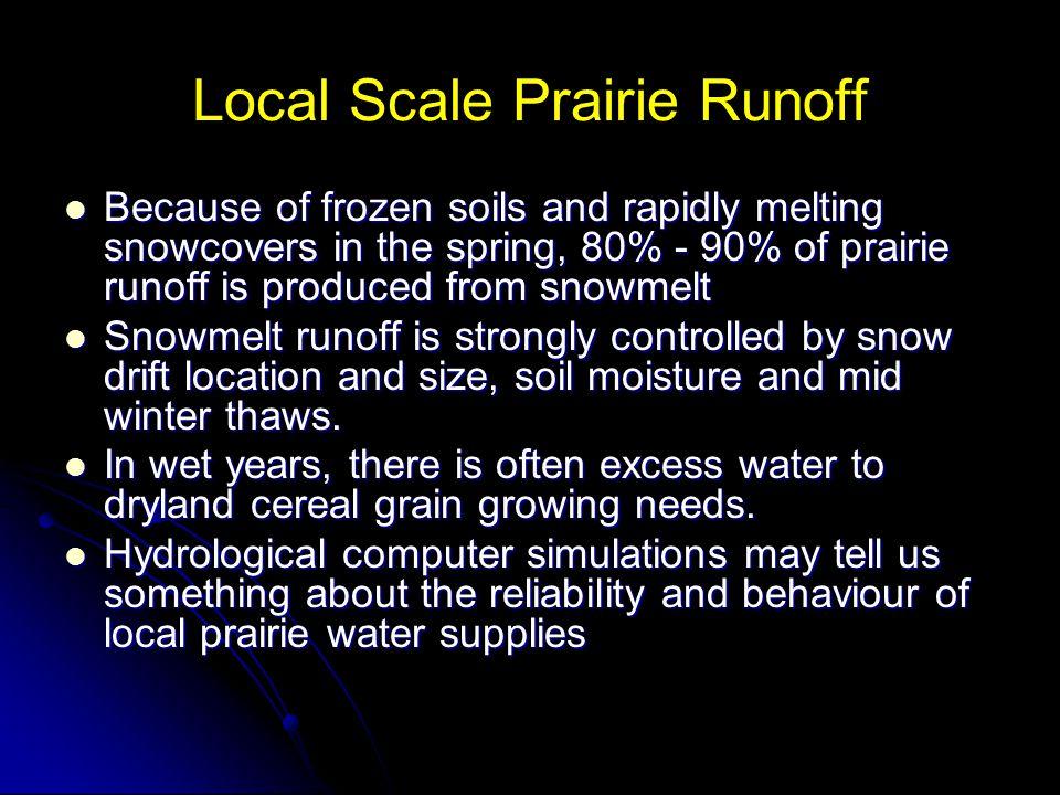 Local Scale Prairie Runoff