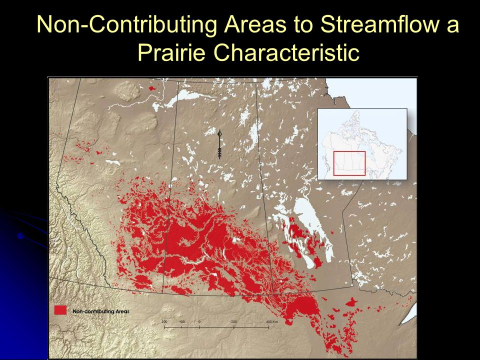 Non-Contributing Areas to Streamflow a Prairie Characteristic