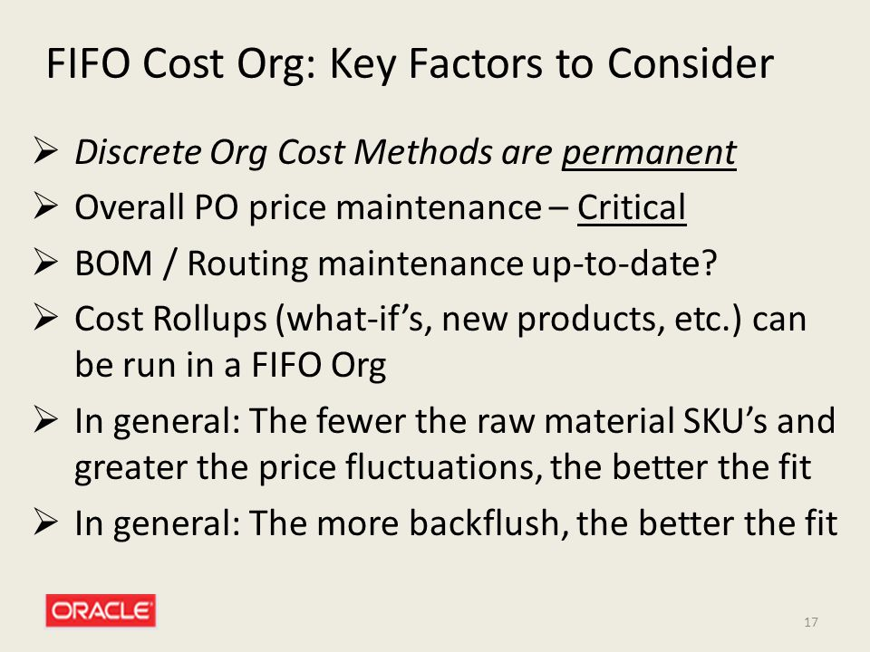 FIFO Cost Org: Key Factors to Consider