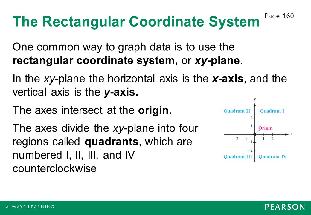 The Rectangular Coordinate System