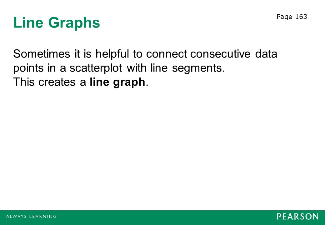 Page 163 Line Graphs.