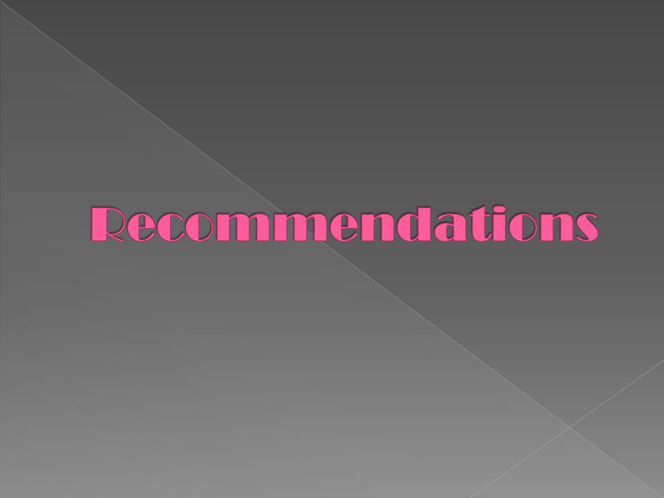 Recommendations MALLERY