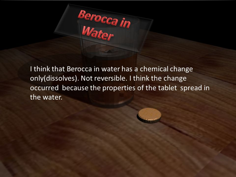 Berocca in Water