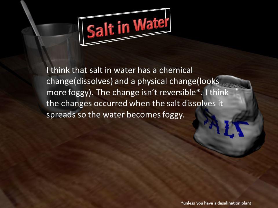 Salt in Water