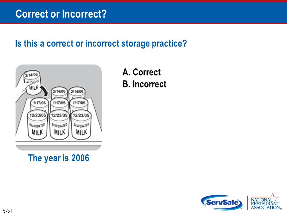 Correct or Incorrect Is this a correct or incorrect storage practice