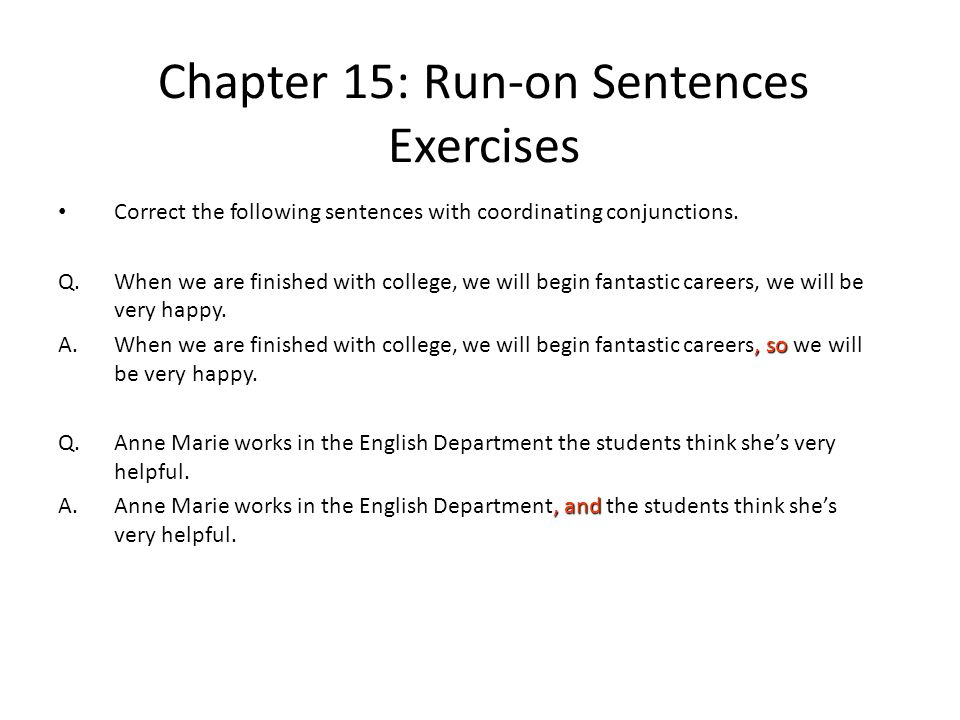 Chapter 16 Runon Sentences ppt download – Fragments and Run Ons Worksheet
