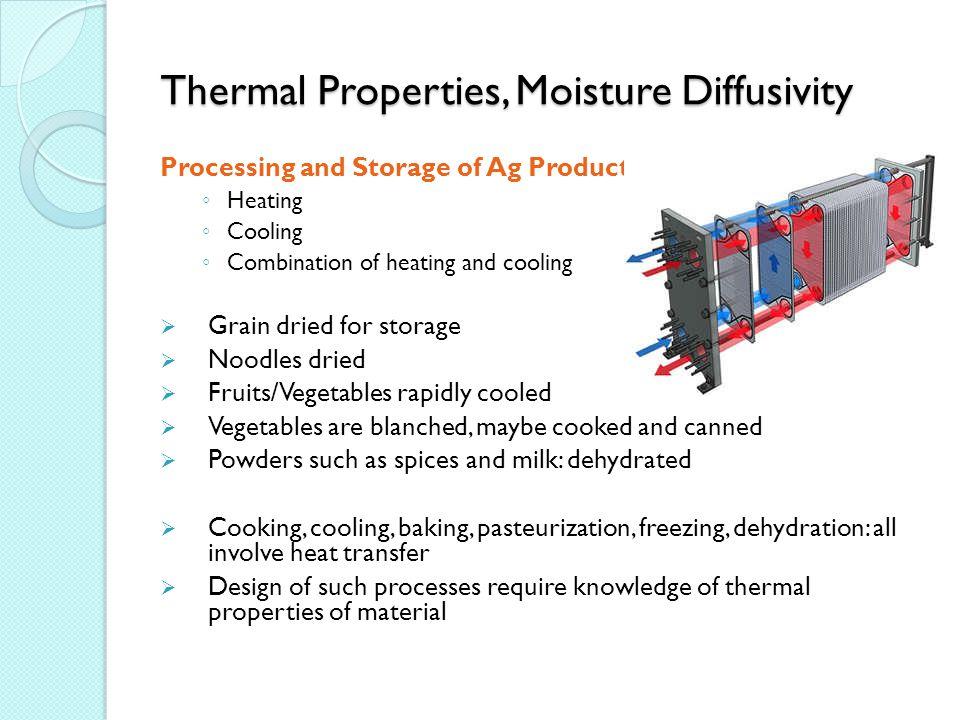 Thermal Properties, Moisture Diffusivity