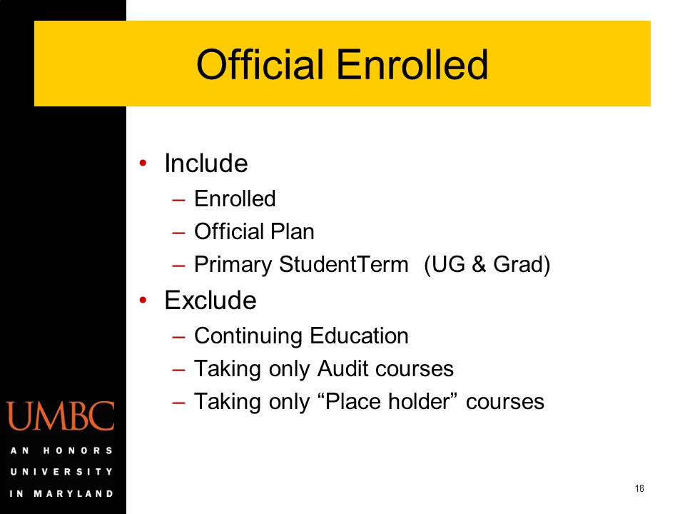 Official Enrolled Include Exclude Enrolled Official Plan