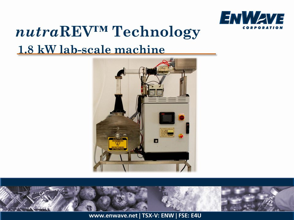 nutraREV™ Technology 1.8 kW lab-scale machine
