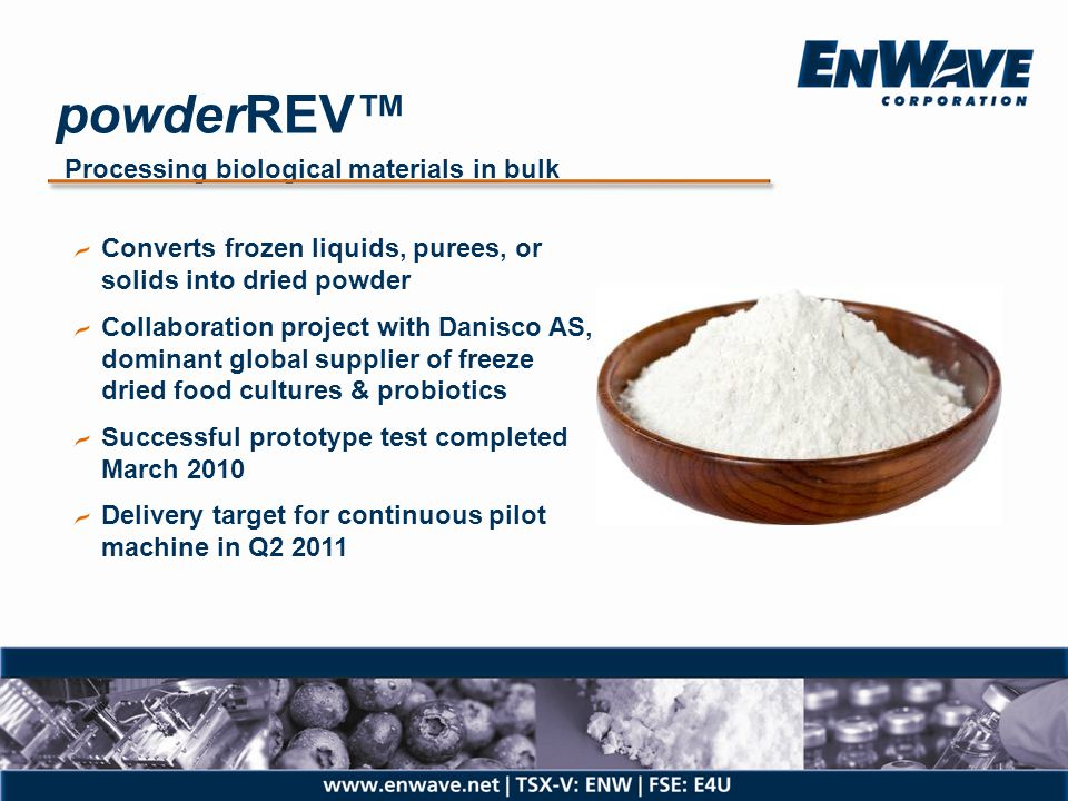 powderREV™ Processing biological materials in bulk