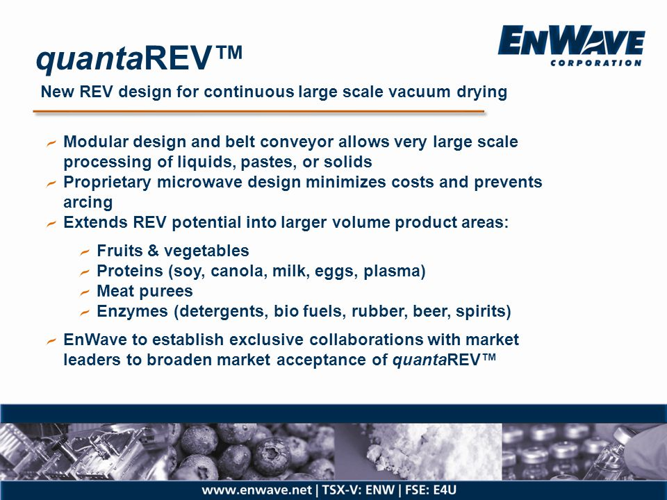 quantaREV™ New REV design for continuous large scale vacuum drying