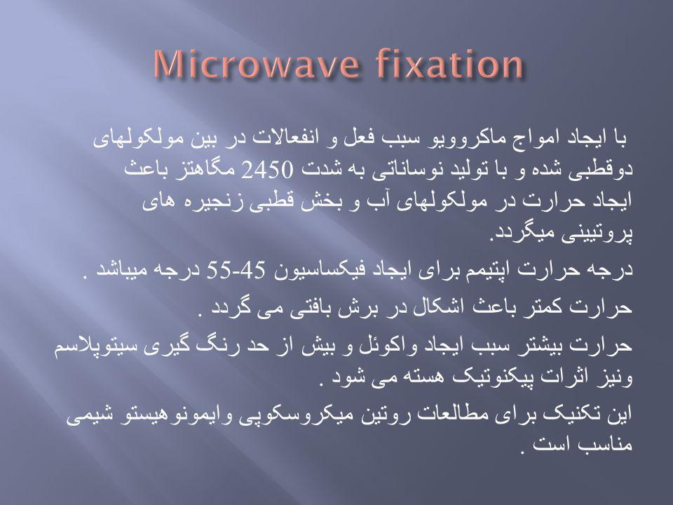 Microwave fixation
