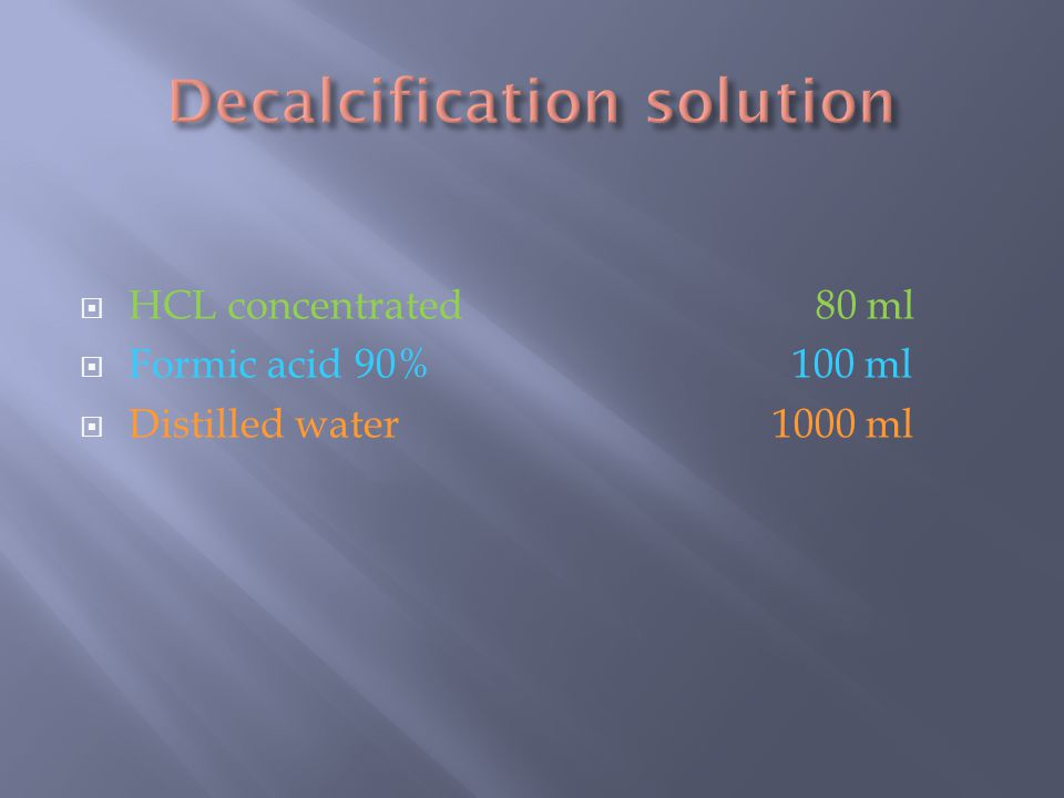 Decalcification solution