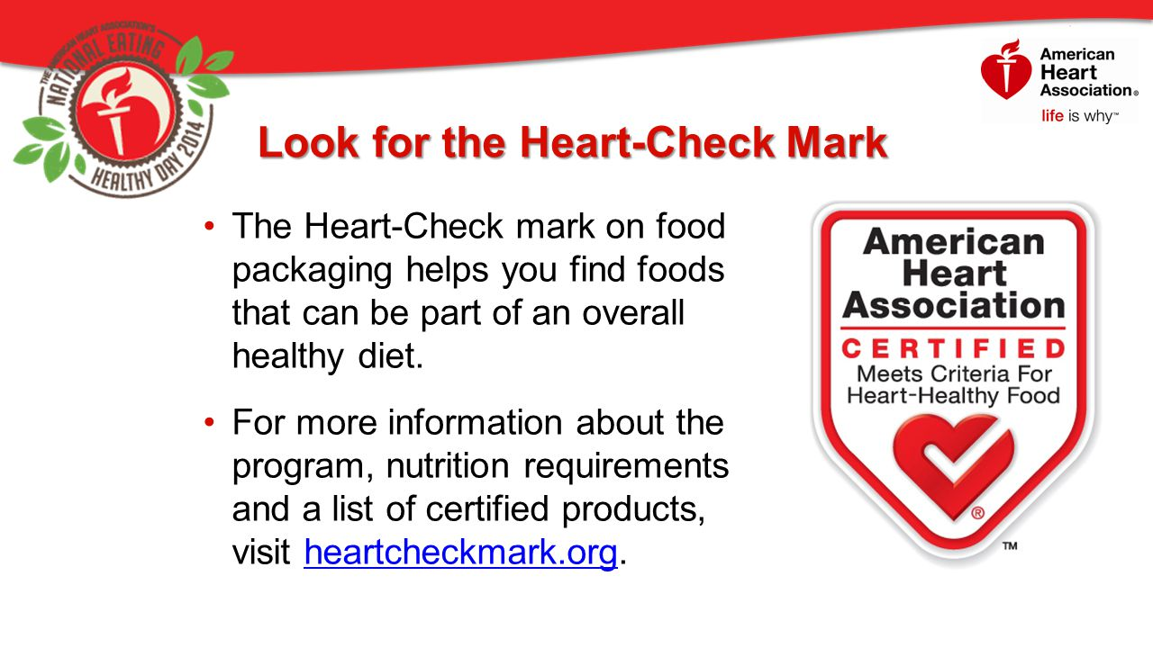 Look for the Heart-Check Mark