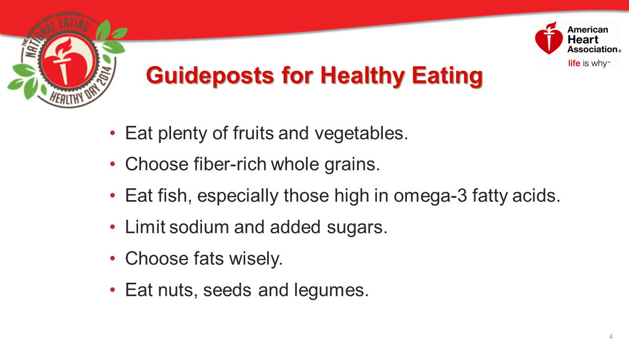 Guideposts for Healthy Eating
