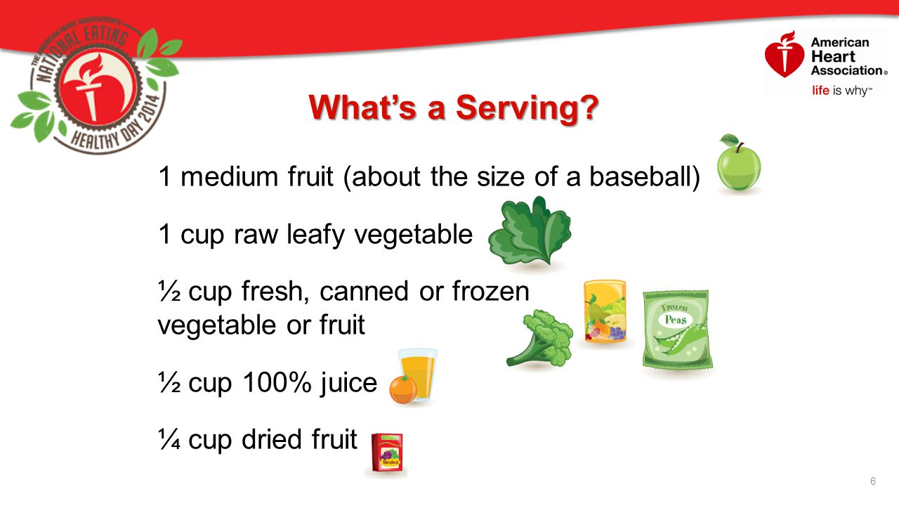 What's a Serving 1 medium fruit (about the size of a baseball)