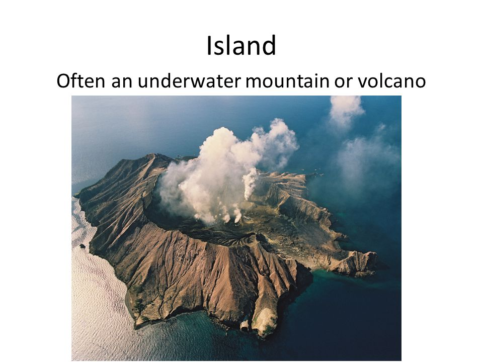 Often an underwater mountain or volcano