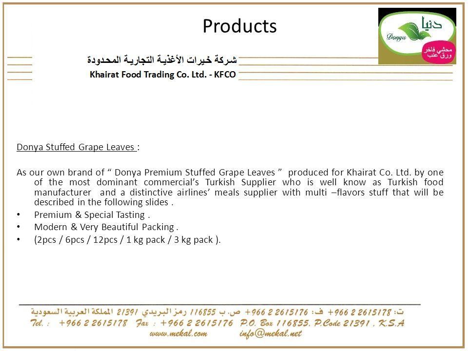 Products Donya Stuffed Grape Leaves :