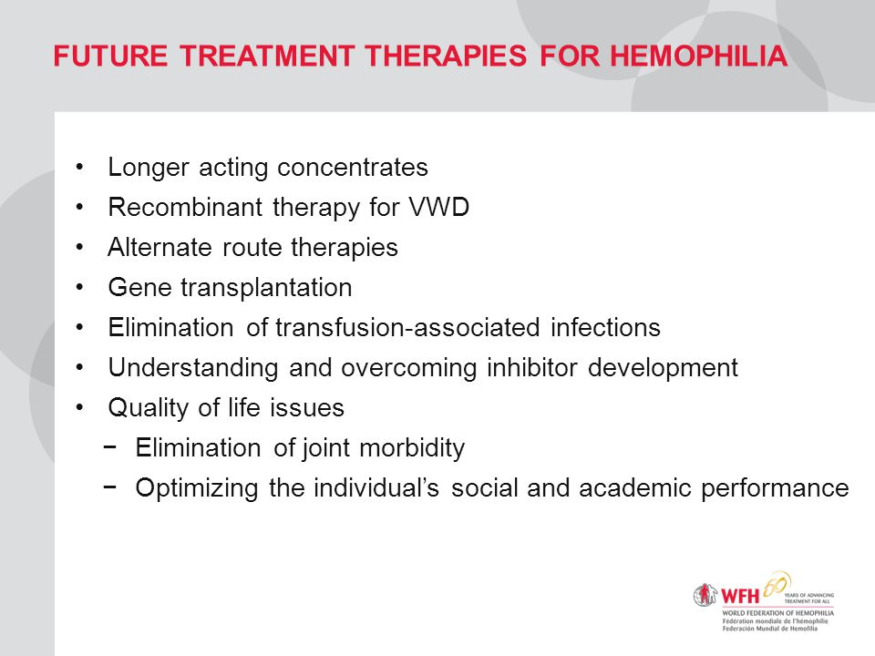 Future Treatment Therapies for Hemophilia