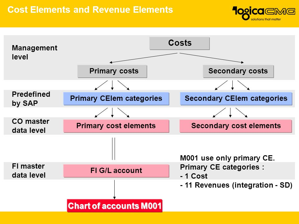 Cost Elements and Revenue Elements