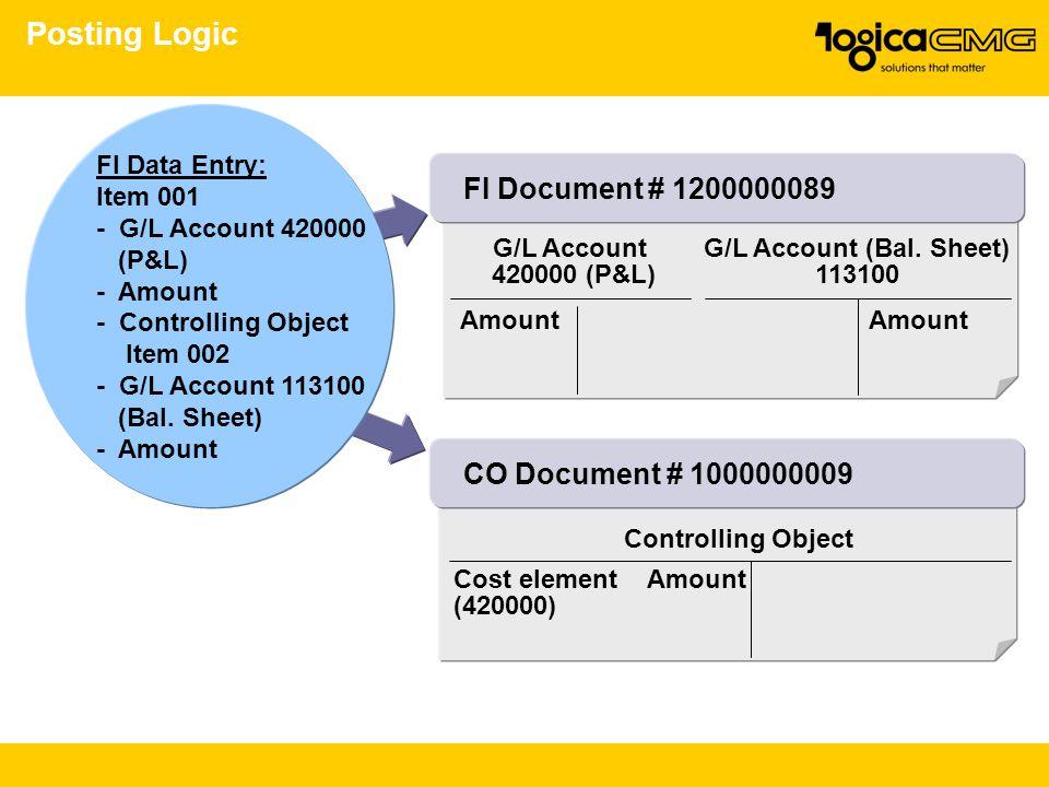 G/L Account (Bal. Sheet)