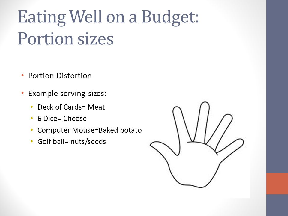 Eating Well on a Budget: Portion sizes