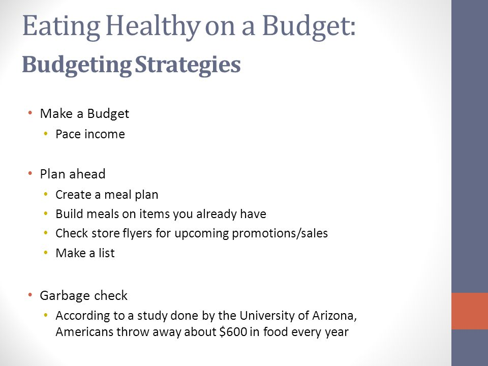 Eating Healthy on a Budget: Budgeting Strategies
