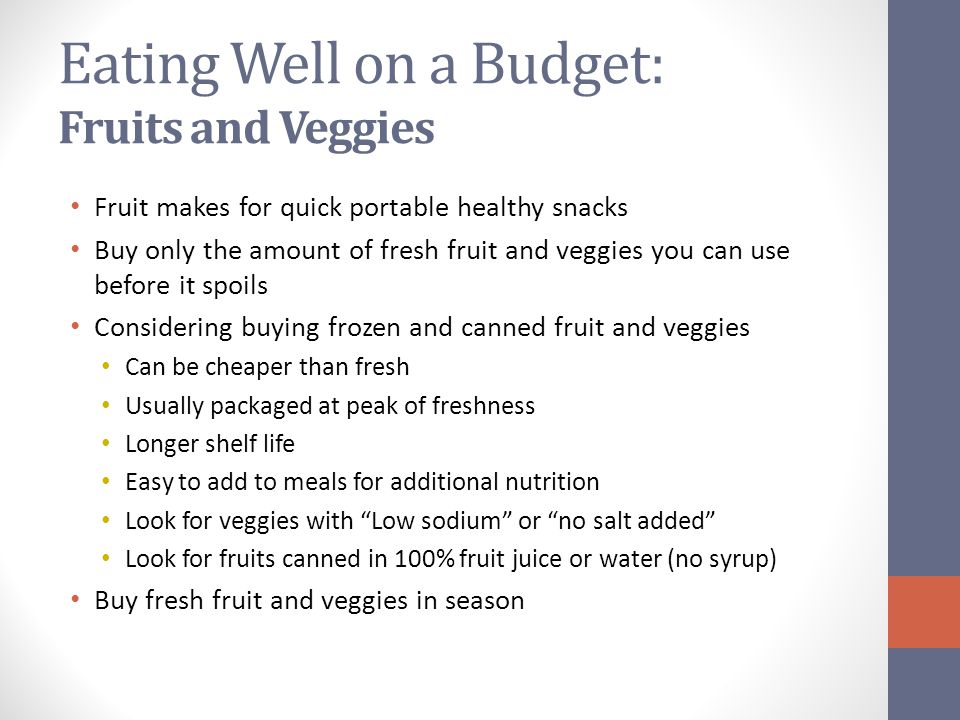 Eating Well on a Budget: Fruits and Veggies