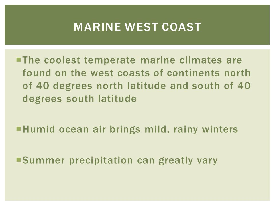 Marine west coast