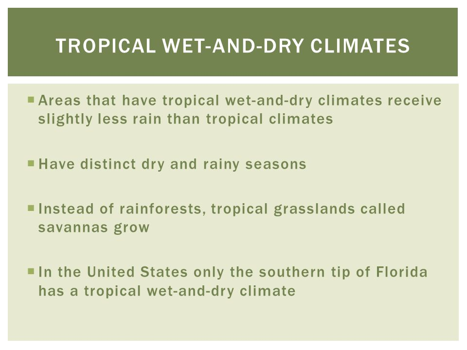 Tropical wet-and-dry climates