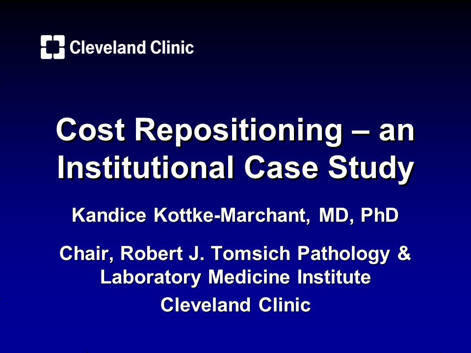 Cost Repositioning – an Institutional Case Study