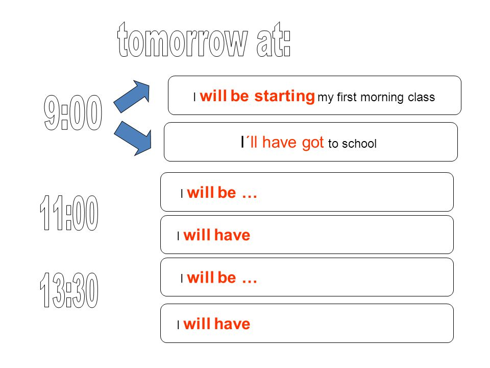 I will be starting my first morning class