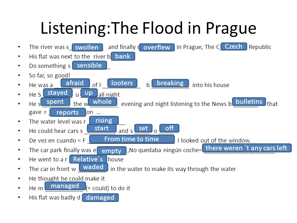 Listening:The Flood in Prague