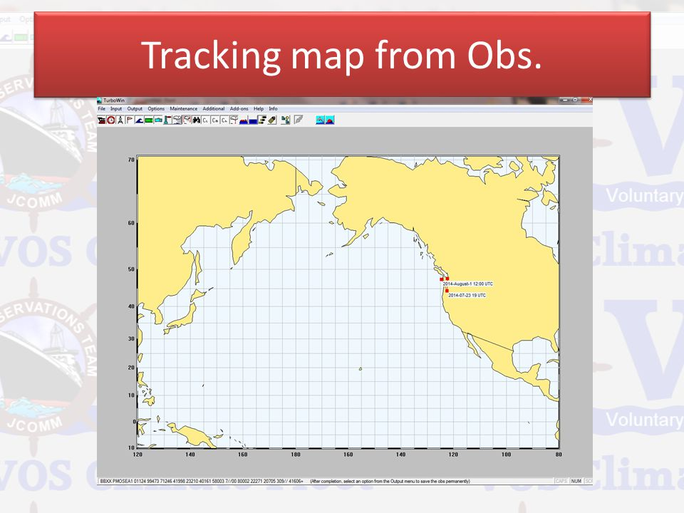 Tracking map from Obs.