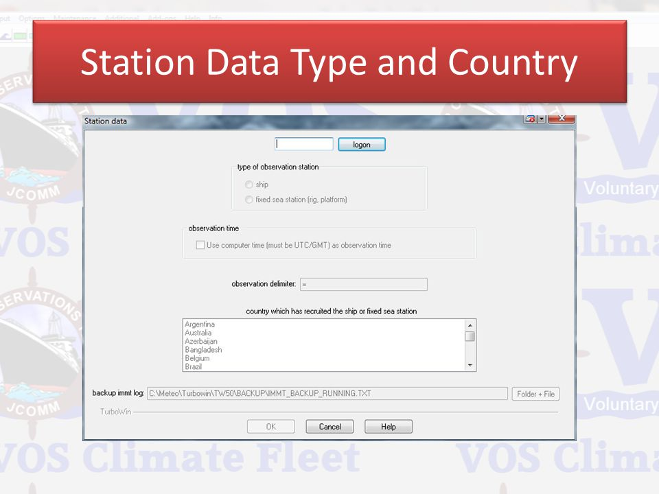 Station Data Type and Country