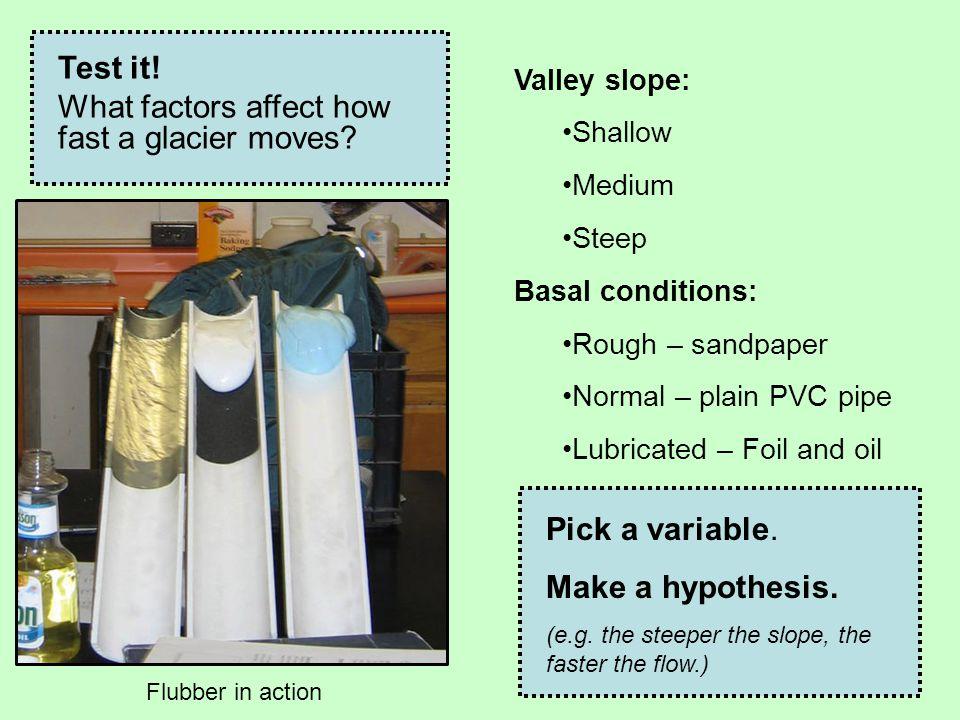 What factors affect how fast a glacier moves