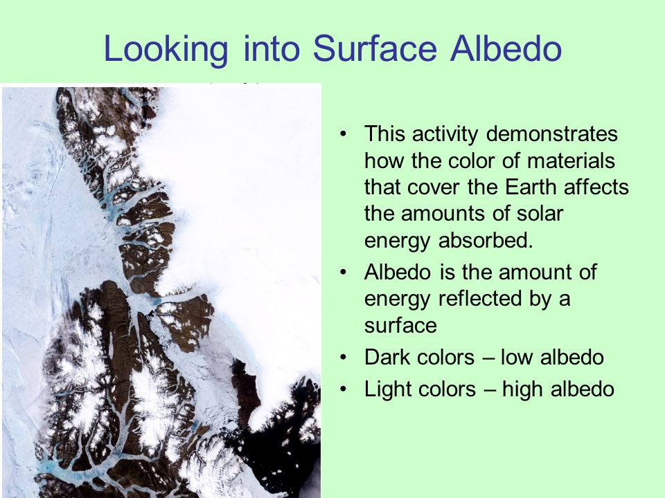 Looking into Surface Albedo