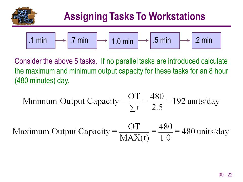 Assigning Tasks To Workstations