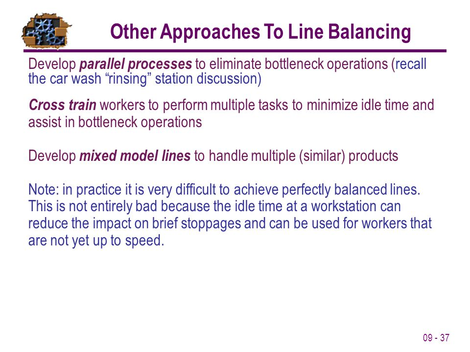 Other Approaches To Line Balancing