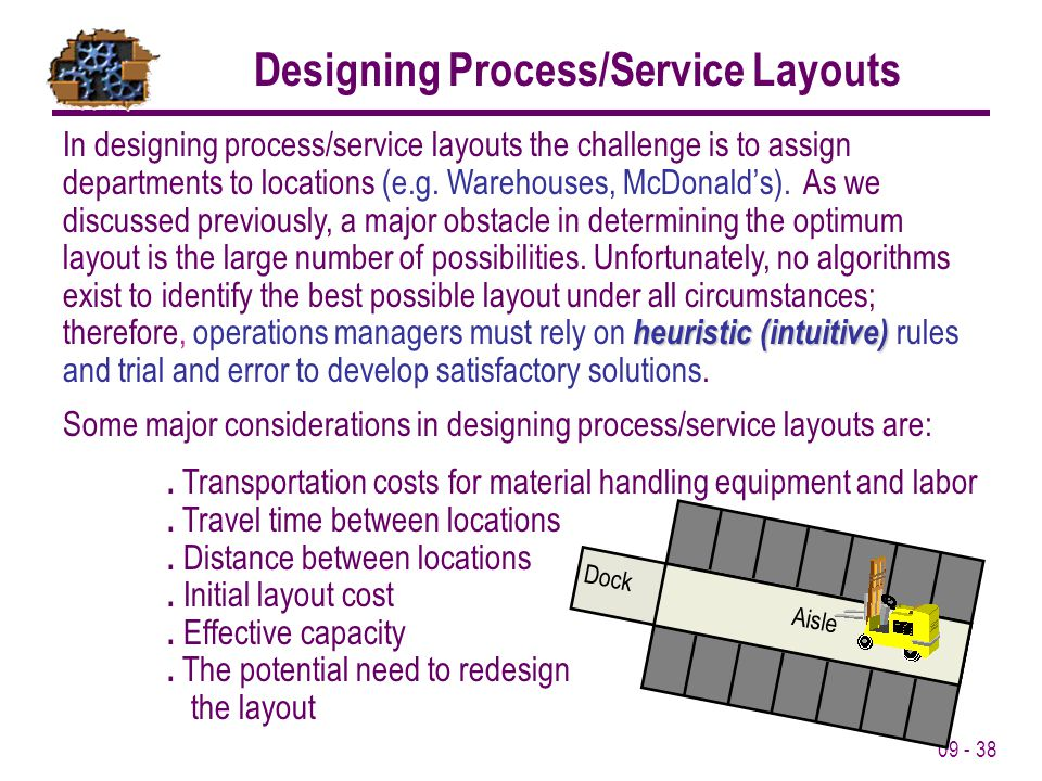 Designing Process/Service Layouts